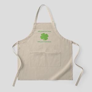 St. Patricks Day personalisable shamrock Apron