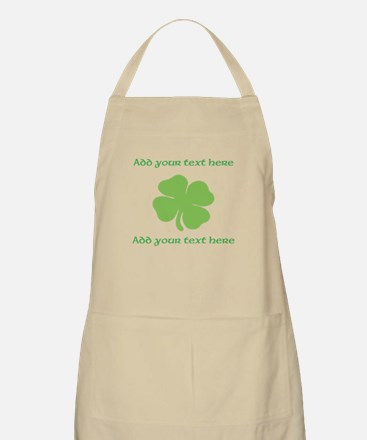 St. Patricks Day personalisable shamrock Apron