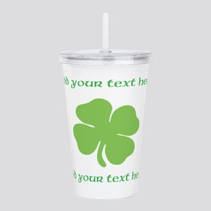 St. Patricks Day personalisable shamrock Acrylic D