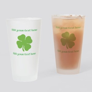 St. Patricks Day personalisable shamrock Drinking
