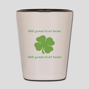 St. Patricks Day personalisable shamrock Shot Glas