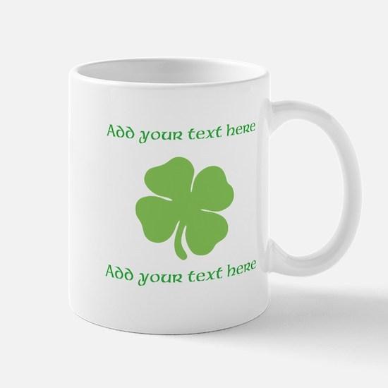 St. Patricks Day personalisable shamrock Mugs