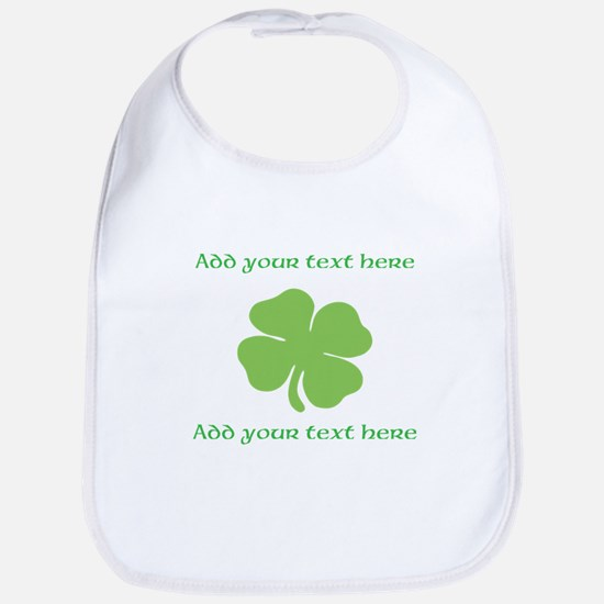 St. Patricks Day personalisable shamrock Bib
