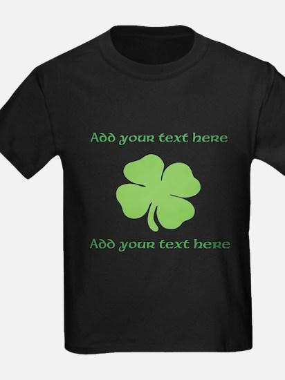 St. Patricks Day personalisable shamrock T-Shirt