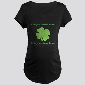 St. Patricks Day personalisable shamrock Maternity