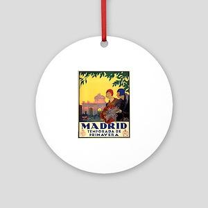 Madrid Temporada de Primavera - Vin Round Ornament