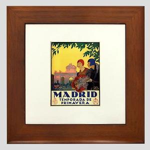 Madrid Temporada de Primavera - Vintag Framed Tile