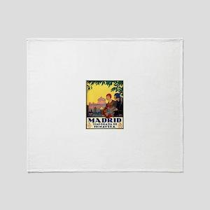 Madrid Temporada de Primavera - Vint Throw Blanket