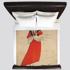 Vintage poster - May Belfort King Duvet