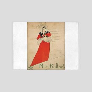 Vintage poster - May Belfort 5'x7'Area Rug