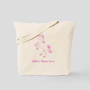 Personalisable Pink Unicorn Tote Bag