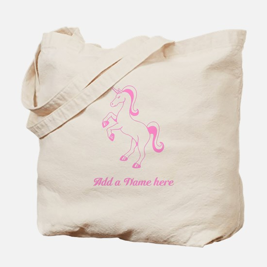 Personalisable Pink Unicorn Tote Bag