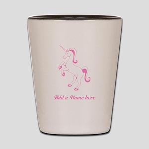 Personalisable Pink Unicorn Shot Glass