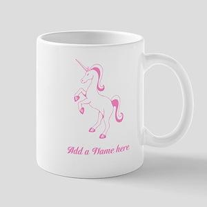 Personalisable Pink Unicorn Mugs