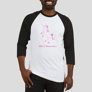 Personalisable Pink Unicorn Baseball Jersey