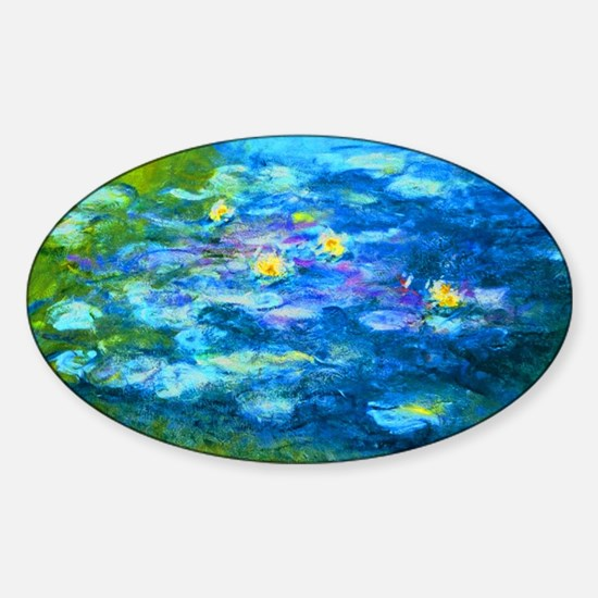 Funny Claude monet Sticker (Oval)