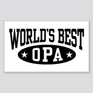 World's Best Opa Sticker (Rectangle)