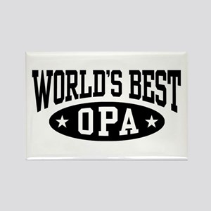 World's Best Opa Rectangle Magnet