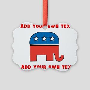 Republican Elephant Template Ornament