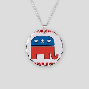 Republican Elephant Template Necklace