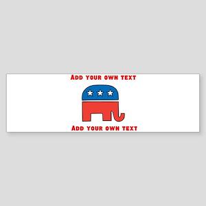 Republican Elephant Template Bumper Sticker