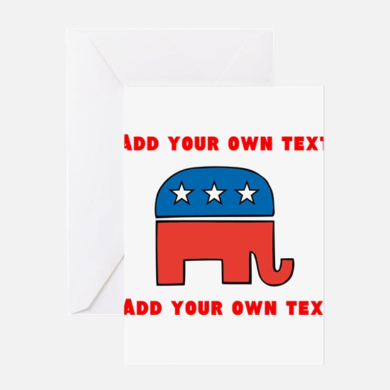 Republican Elephant Template Greeting Cards
