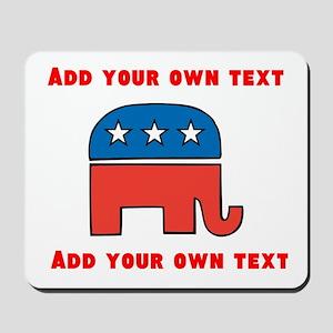 Republican Elephant Template Mousepad