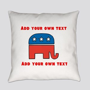 Republican Elephant Template Everyday Pillow