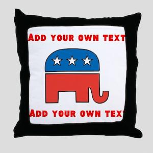 Republican Elephant Template Throw Pillow