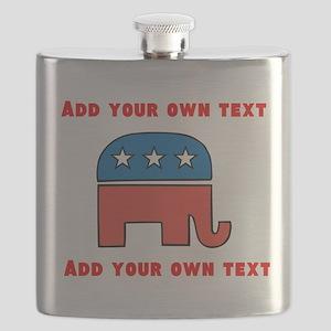 Republican Elephant Template Flask