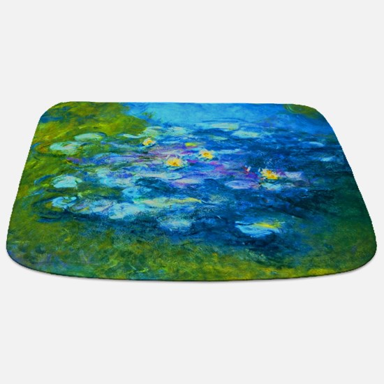 Unique Monet water lilies Bathmat
