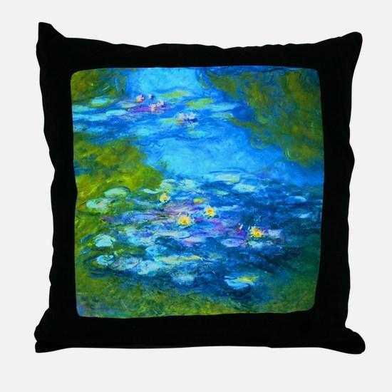 Cute Water lilies Throw Pillow