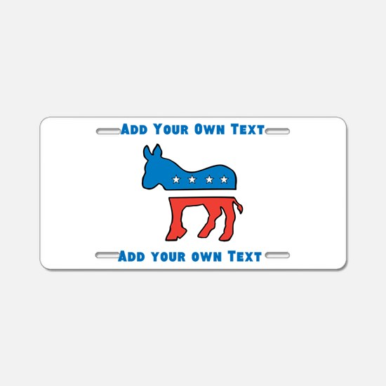 Democrat Donkey Template Aluminum License Plate