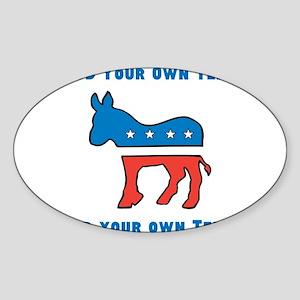 Democrat Donkey Template Sticker
