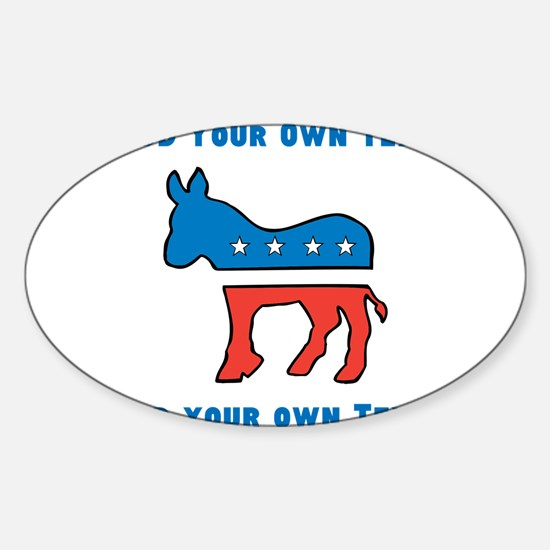 Democrat Donkey Template Decal