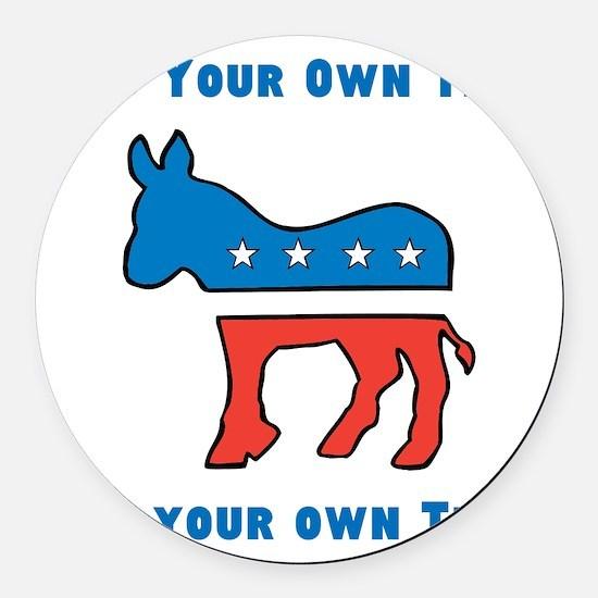 Democrat Donkey Template Round Car Magnet