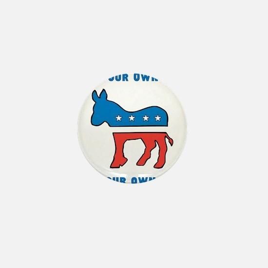Democrat Donkey Template Mini Button