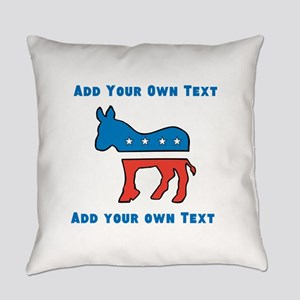 Democrat Donkey Template Everyday Pillow