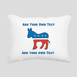 Democrat Donkey Template Rectangular Canvas Pillow