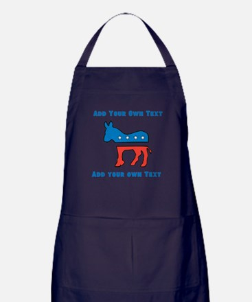 Democrat Donkey Template Apron (dark)