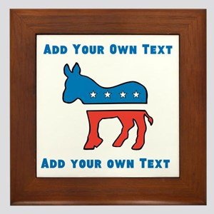 Democrat Donkey Template Framed Tile