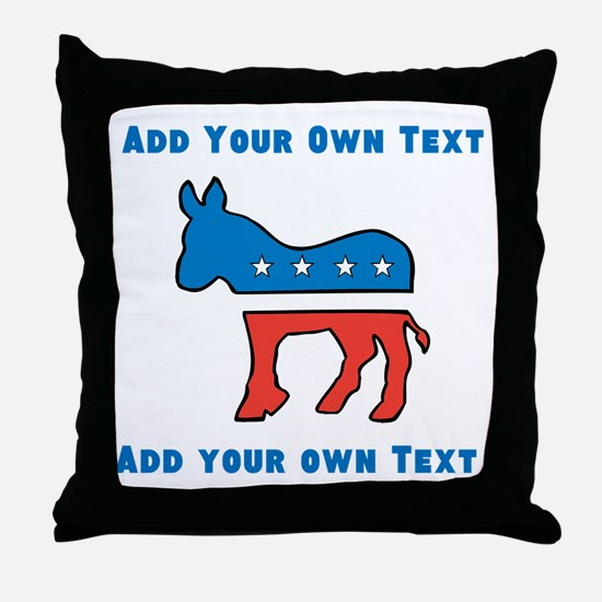 Democrat Donkey Template Throw Pillow