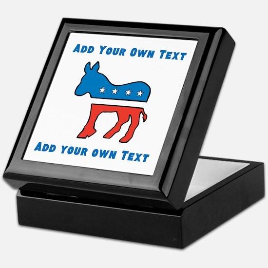 Democrat Donkey Template Keepsake Box