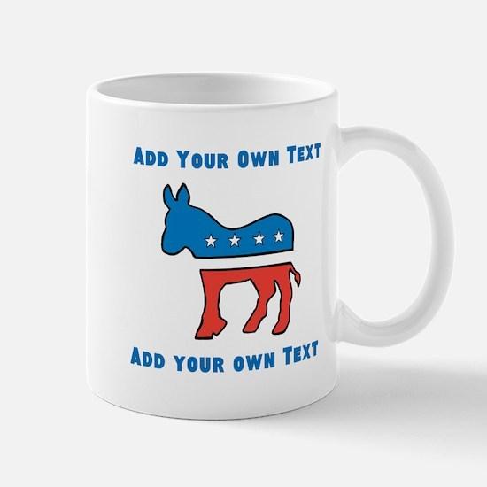 Democrat Donkey Template Mugs