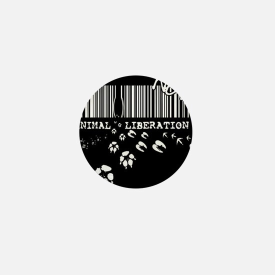 Animal Liberation Now - Until Every Ca Mini Button