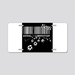 Animal Liberation Now - Unt Aluminum License Plate