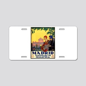 Madrid Temporada de Primave Aluminum License Plate