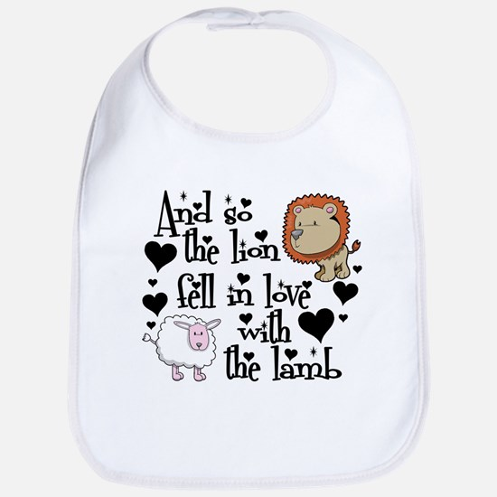 The lion fell in love with the lamb Bib