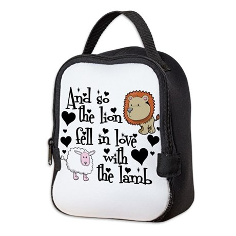 THE LION FELL IN LOVE WITH THE NEOPRENE LUNCH BAG