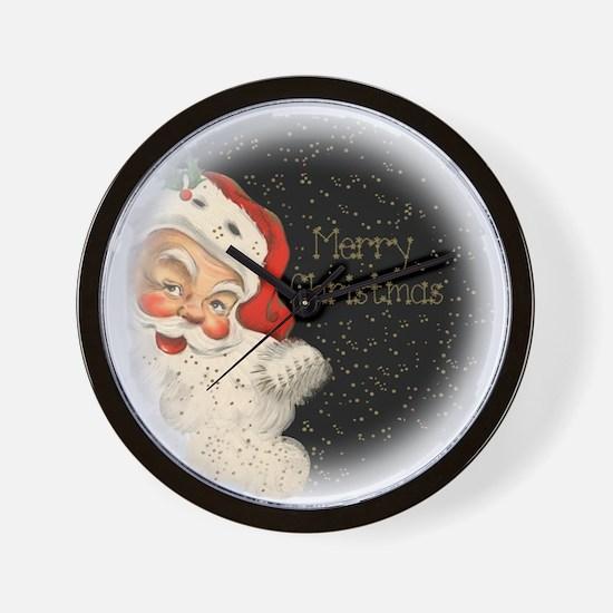 Santa in the stars Wall Clock